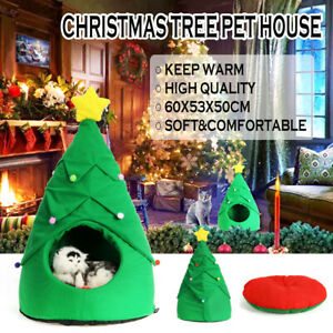 Christmas Dog Cat Bed House Soft Nest Tree Shape Pet Bed Cat Puppy House   !*