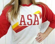 Vintage 80's Asa Baseball Graphic T Shirt Jerzees Russel Xl Single Stitch Soft