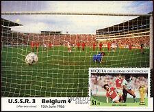 Football Maxicard 1986, USSR V Belgium, Handstamped #C26425