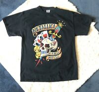 RARE Metallica 2004 Tour Band T-Shirt Double Sided McPhail Artwork Adult Size M
