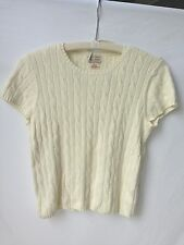"Ralph Lauren Cream ""Polo Jeans"" Top Blouse Sweater (L)"