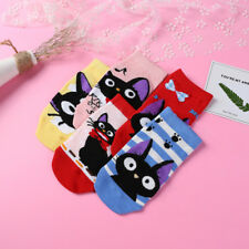 Studio Ghibli Kiki's Delivery Service Jiji Cat Women Low Cut Ankle Sock 5 Pairs