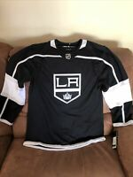 Adidas Los Angeles Kings NHL Authentic Black Jersey NWT Size 44 Men's