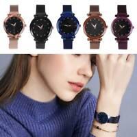 Damen  Uhr Sternenhimmel Uhr Wasserdicht Magnet Armband Quarz Luxusuhr Geschenk