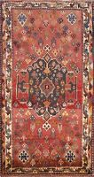 Vintage Geometric Traditional Area Rug Wool Hand-Knotted Oriental Carpet 3'x5'