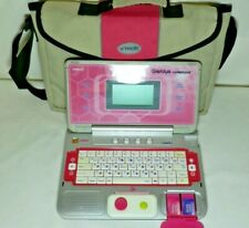 VTech Genius Notebook Talking Computer Play Laptop Princess Pink With Carry Case