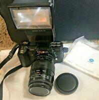 Minolta Maxxum 7000 35mm SLR Film Camera Sigma Zoom Lens, filter & 4000 AF Flash