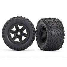 NEW Traxxas E-Revo 2 Talon EXT Tires Mounted on Black Wheels w/17mm Splined Hex