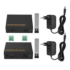 4K HDMI Multimode LC Fiber Optical Media Converter Extender Video Audio Media SP