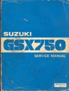 SUZUKI GSX750 T,L,X,GSX750 S KATANA 1980-1982 FACTORY WORKSHOP MANUAL