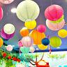 "6"" 8"" 10"" 12"" 14"" Round Paper Flower Lanterns Lamp Ball Wedding Party Home Decor"