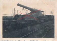 Nr 16594 Foto PK 2. Weltkrieg  Frankreich  Eisenbahn Geschütz