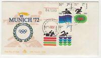 Australia Munich 1972 Olympic Games FDC MOAMA NSW CDS