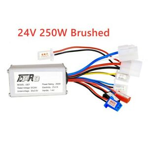 DC 24V 250W Motor Brushed Controller Electric Scooter E-Bike Razor Bicycle ATV