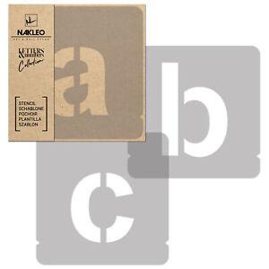 Pochoirs Lettres et Chiffres / 100mm / Modern Sans Minuscule / Alphabet Nombres