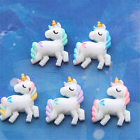 5pcs Lovely Unicorn Flat Back Resin Cabochon for DIY Phone Embellishments Dec Jq
