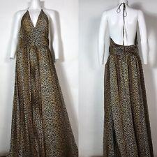Rare Dolce & Gabbana D&G Animal Print Silk Maxi Dress XL