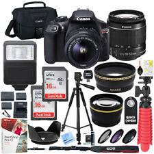 Canon T6 EOS Rebel DSLR Camera EF-S 18-55mm f/3.5-5.6 IS II Lens 16GB x2 Bundle