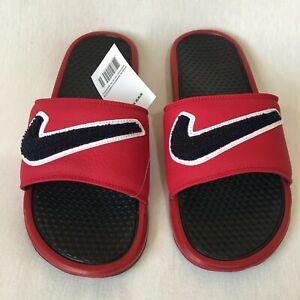 Nike Benassi JDI Chenille Slide Sandal Gym Red/Obsidian-White Size 12 AO2805 600