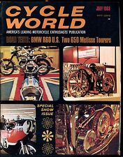 Cycle World Magazine July 1968 BMW R60 VG No ML 030617nonjhe