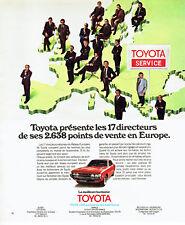 Publicité Advertising 088  1975   Toyota Service  les points de vente en Europe