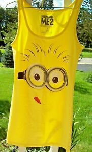 Girl's TANK DRESS / COSTUME Size S or L 10-12 Universal Despicable Me 2 Minion