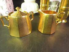 PA Arzberg Bavaria Gold Encrusted Creamer & Sugar Roses & Daisies