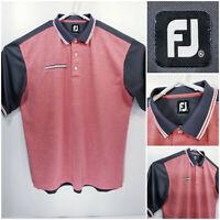 FootJoy FJ Mens XL Golf Shirt Polo Red Gray