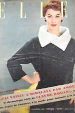 MAGAZINE ELLE N° 415 de 1953 PICASSO LOLLOBRIDGIDA MODE COUTURE SWEATER