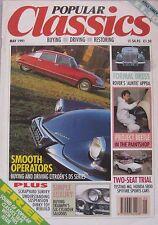 Popular Classics 05/1991 featuring MG, Triumph, Honda S800, Citroen, Morris