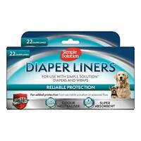 Diaper liners x 22 - light absorbency, use with dog diaper or male wrap