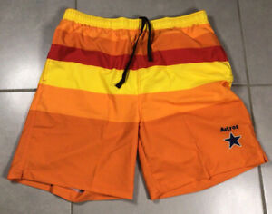 NWT Men's FOCO Forever Collectibles Sz M Houston Astros Swim shorts COOPERSTOWN