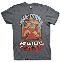 He-Man and the Masters of the Universe Poster Official Classic Grey Mens T-shirt