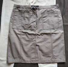 👚 Marc Cain Sommer Rock  Gr N3 38  taupe schöne Taschen vorn