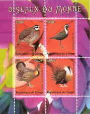 Uccelli Del Mondo su Francobolli - Foglio di 4 Francobolli