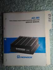 Pioneer Ad-360 service manual original repair book car stereo power amp 11 pages