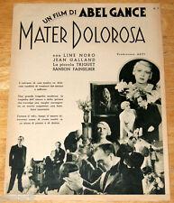 guida pubblicitaria Pittaluga MATER DOLOROSA Abel Gance Antonin Artaud 1933