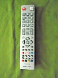 Sharp NETFLIX TV/TEXT/DVD/FAV/YOUTUBE REMOTE CONTROL MODEL:DH2005264792  EX/CON