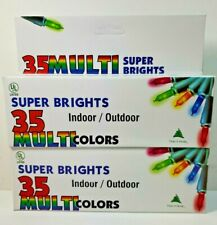 Lot Vintage Kmart Super Bright Indoor Outdoor Multi-Color Christmas Lights