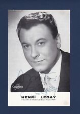 Henry Legay signed 1957 French advertisement - French Operatic Tenor - 1920-1992