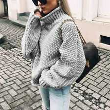 Tops Pullover Ladies Winter Sweater Womens Long Sleeve Knitted Jumper Plus Size