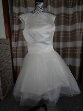 (16)Edles Damen Braut Standesamt Abend Kleid GR: GR: 42