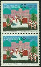 Canada sc#1070 Christmas 1985: Santa Claus Parade, Pair fr Booklet Bk90, Mint-NH