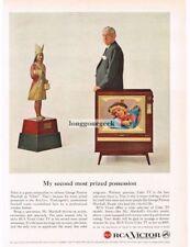 1959 RCA VICTOR Color TV George Preston Marshall Owner REDSKINS VTG PRINT AD