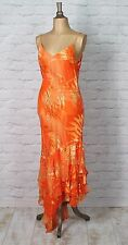New Womens 20s Vintage Dress Evening Flapper Gatsby Sequins Beads Sheer UK 14