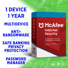 McAfee Internet Security 1 device 1 year Multidevice 2019 2020 full edition