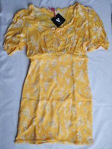 V By Very Round Neck Shirred Mini Dress - Size 16