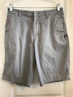 DC Shoe Co. Chino Gray Walk Shorts Men's Size 31 Flat Front