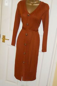 Stretchy warm autumn jumper cardigan wiggle tie dress size 18 20 party or day