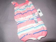 nwt Baby Gap pink blue stripe bubble sun romper baby girl 18 m 24 m free ship Us